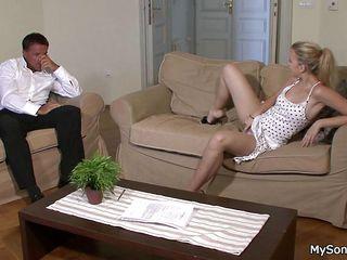 Нежный секс со стариком